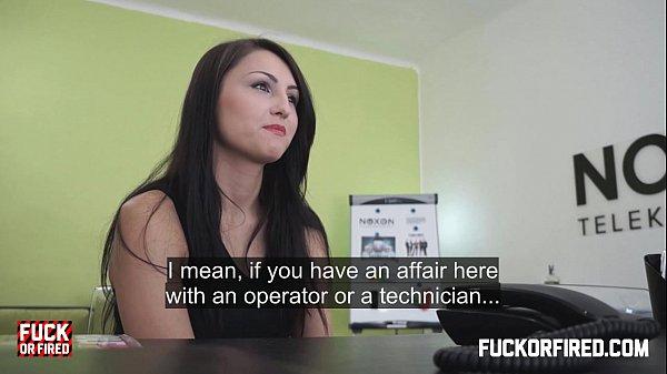 Barbora fucks me hard to prove she's worth hiring Thumb