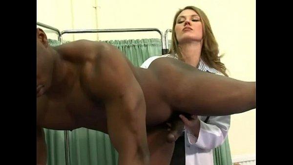 Nurses having fun with black man