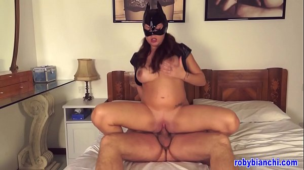 Pregnant Catwoman with big cock! Directed by Roby Bianchi