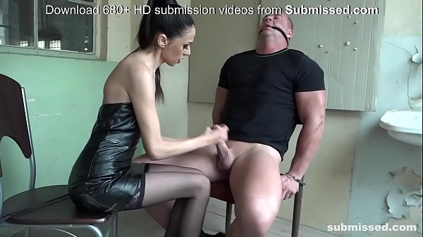 Bound man submissed by European domina! Great Femdom! Thumb