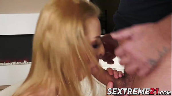 Kinky blonde Lylyta Yung swallows massive amount of hot cum