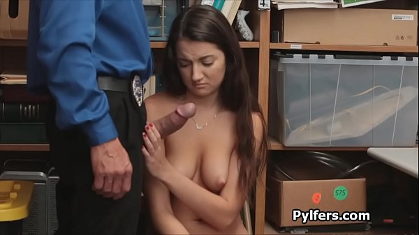 Beautiful perky pilfer drilled by security guard