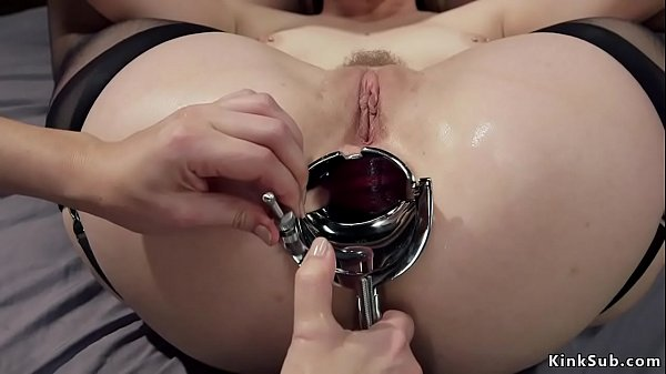 Three lesbians anal speculum and toys