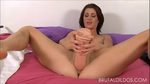 Cici Rhodes punishes her pink pussy with b. dildos