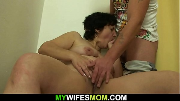 My wife's old m. gives head and rides cock