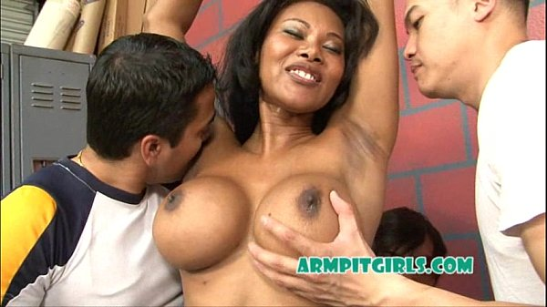 Cheerleader Armpit Fetish Asian Gangbang with Kymora Lee