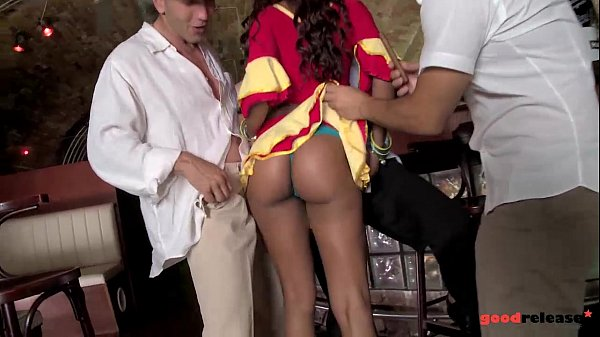 Big Booty latina waitress gang banged and DP'ed to Orgasm Thumb