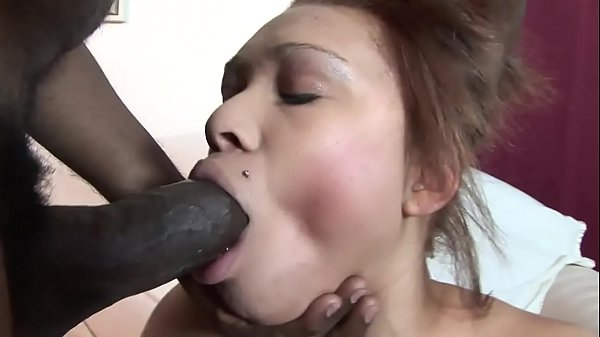 Natural tits Ebony can hardly fit hunks huge to...