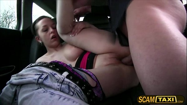 Hot brunette Nikky sucks and fucks a cab driver in the backseat