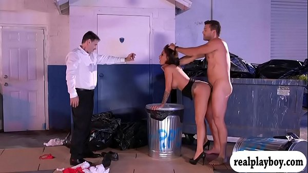 Lusty waitress screwed at the dump area Thumb
