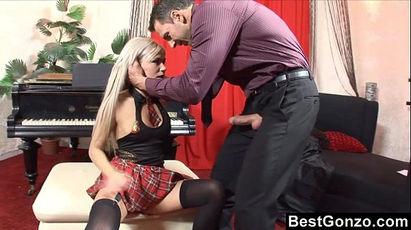 Pervy piano teacher takes advantage of naive student