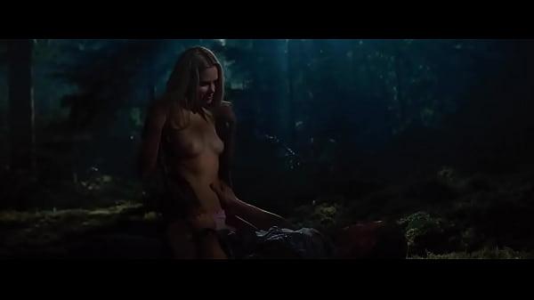 Sex scene in woods