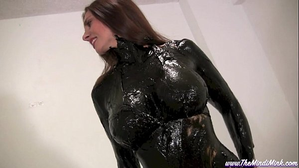 Greased and Oiled MINDI MINK WET AND MESSY
