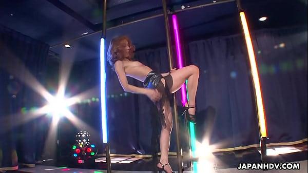 Asian stripper getting wild on the pole as she masturbates Thumb