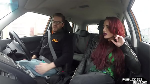 Redhead brit publicly fucks dring instructor