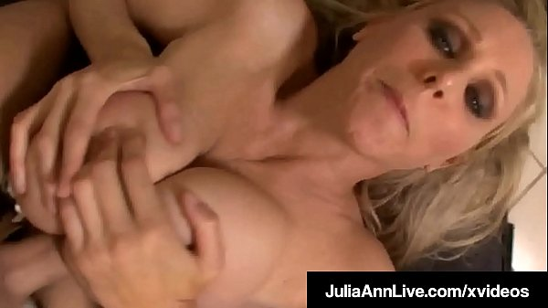 Big Busty Mommy Julia Ann Gets Her Creamy Couga...