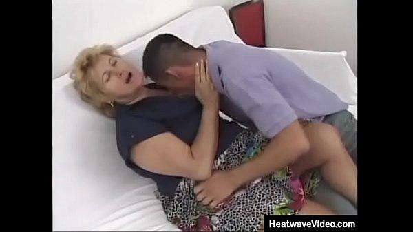 Muscular grandson fucks his grandma hard and she feel like a real woman