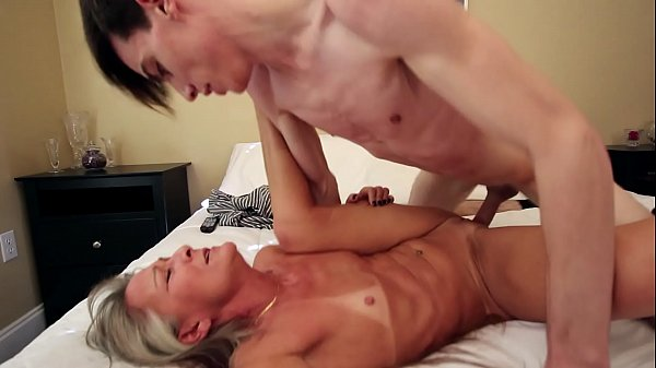 Old MILF Fucks Son Because of Blackmail