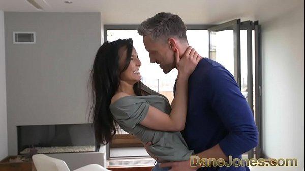 Dane Jones Tight body Brazilian in high heels gets creampie from big cock
