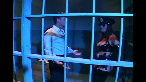 Brunette in uniform fucking in latex lingerie