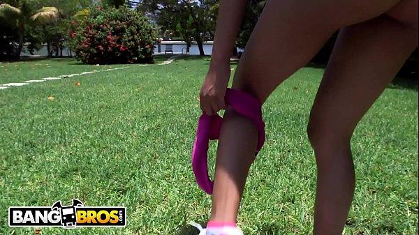 BANGBROS - Skinny Latin Yoga Girl Nadia Nicole Gets Her Camel Toe Pussy Smashed