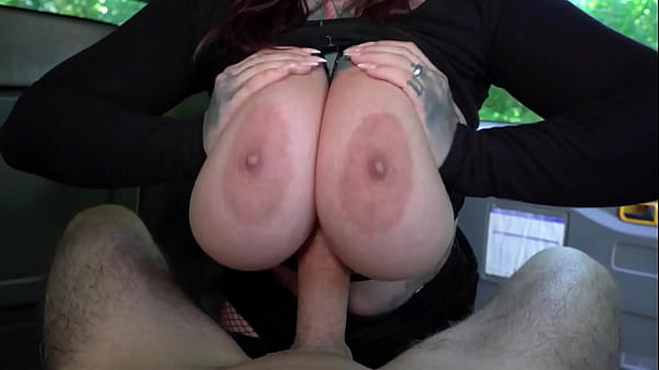 Big Natural Tits, Big Ass and Very Hot. Milf Busts her Chauffeur's Cock