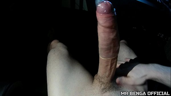 Masturbating my big thick cock with a half condom and cumming - MR BENGA
