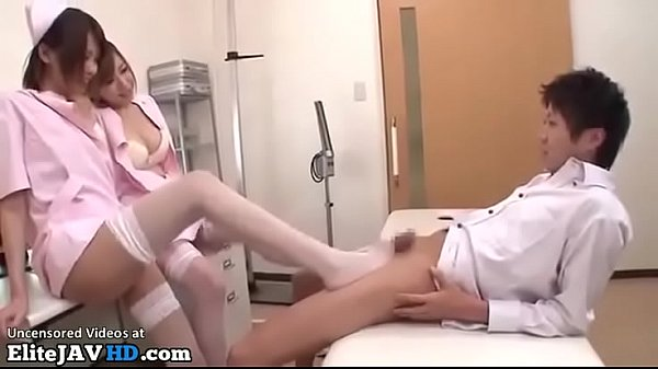 Japanese sexy nurses in stockings fuck their pa...