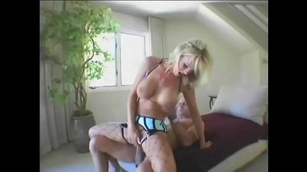Sexy Busty Blonde In Fishnets Dasha Takes Bald Dudes Thick Cock Up Her Ass