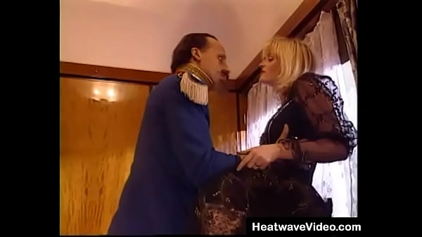 A sexy blonde MILF leads her man back to her compartment on a train