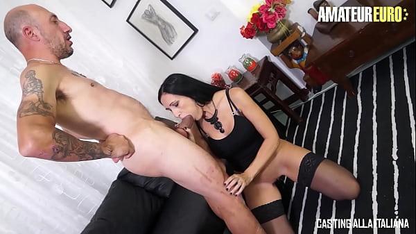 CASTING ALLA ITALIANA - Luna Dark - Big Cock Italian Daddy Omar Galanti Fucks His Wife In Both Holes