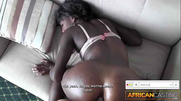 Black Girl Sloppy Deep Throat and Fucked In Ass...