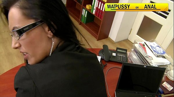Mela fucked hard in the office