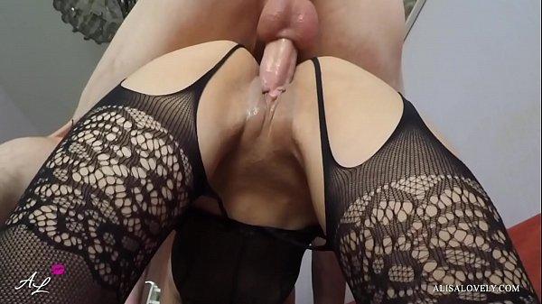 Amateur Couple Best Nylon Fucking Babe with Big...