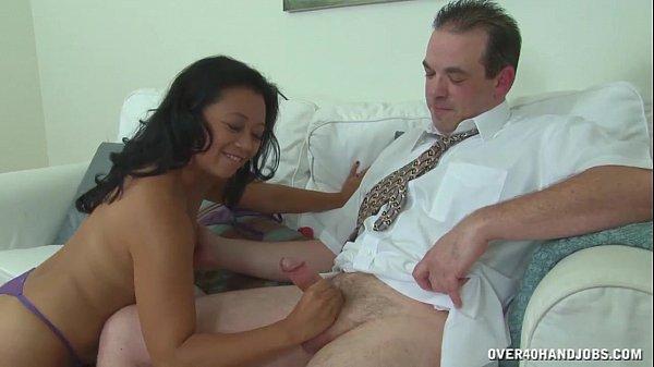 Asian Mature Masseuse Cock Treatment