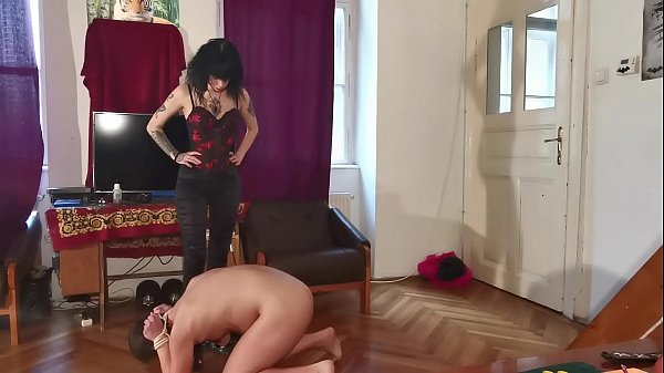 Sub step bro lick her dominant sis boots & get ball kicked pt2 HD