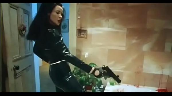 Vampire woman in latex