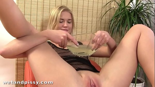 Erotic Piss Show Staring Cute Blonde Teen