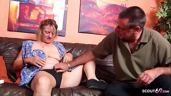 German Wife catch old Husband Fuck the Maid and...