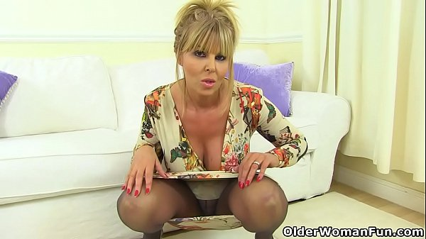 English milf Gabby will make you drool over her...