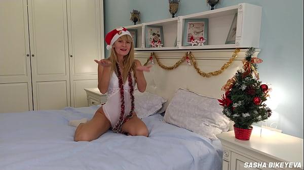 Behind the scenes of New Year and Christmas shootings. Beautiful russian pornstar Sasha Bikeyeva Thumb