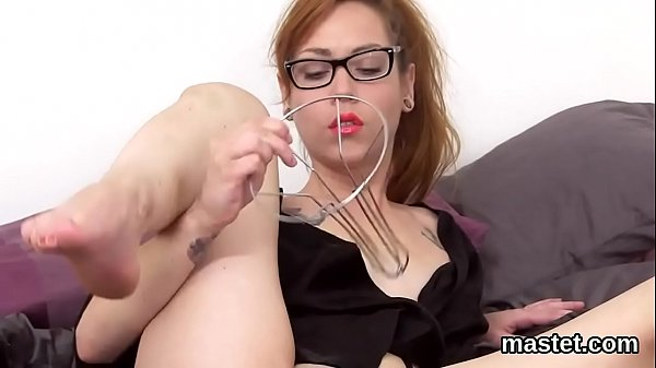 Wicked czech girl stretches her yummy slit to the unusual