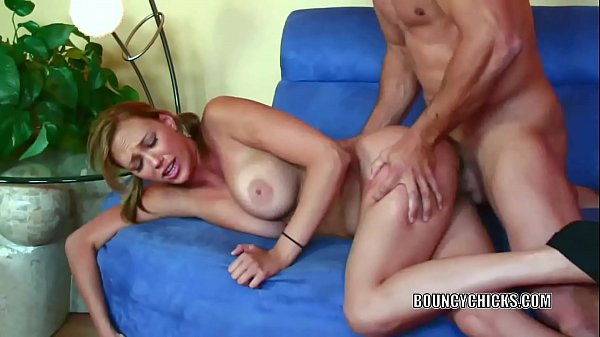 Busty babe Alexia Rae takes all the jizz on her big boobsCurvy cutie