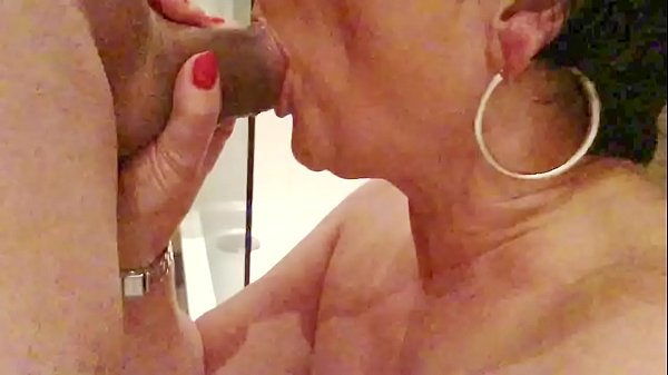 Close up mature blowjob