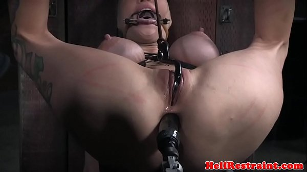 Bdsm sub anal penetrated with sex machine Thumb