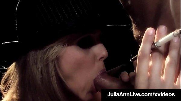 Broadway BJ MIlf Julia Ann Sucks Cigar & Cock o...