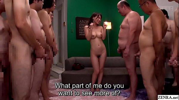 JAV milf Kaho Kasumi striptease for group of me...
