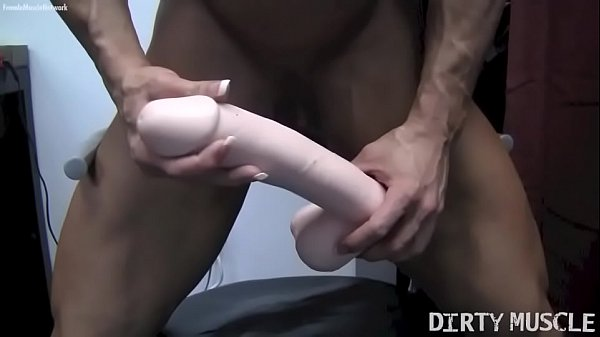 Busty FBB whore Angela Salvagno rides a Dildo yells and cums