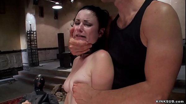 Master makes petite slave anal fuck