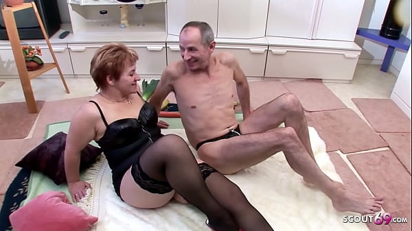 Extrem old German Couple Suprise by Granny Neigbour in 3Some Thumb
